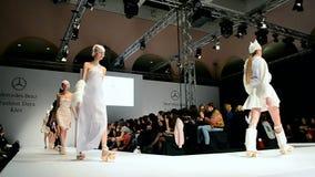 Mercedes Benz Kiev Fashion Days, Kiew, Ukraine, stock footage