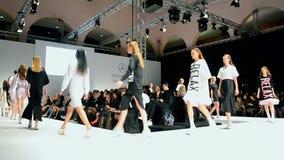 Mercedes Benz Kiev Fashion Days, Kiew, Ukraine, stock video