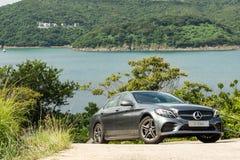 Mercedes-Benz klasy 2018 testa Prowadnikowy dzień zdjęcie royalty free
