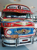 Mercedes Benz LO 1112 Omnibus. This colorful Mercedes-Benz LO 1112 is a bus from Argentina, being produced between 1966-1972. Now is a valuable piece in the Royalty Free Stock Photography