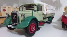 Mercedes Benz LO2750 transporter scale model car Royalty Free Stock Images
