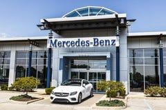 Indianapolis - Circa August 2017: Mercedes-Benz Logo. Mercedes-Benz is a global automobile manufacturer V Stock Photo