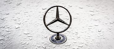 Mercedes Benz logo Royalty Free Stock Photography