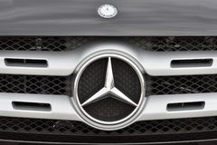 Mercedes-Benz logotype on a car Royalty Free Stock Photography
