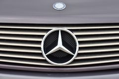 Mercedes-Benz logotype on a car Stock Photography