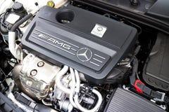 Mercedes-Benz 45 4MATIC AMG silnik Zdjęcia Royalty Free