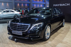 Mercedes Benz-Maybach S500 toonde in Thailand 37ste Bangkok Stock Fotografie