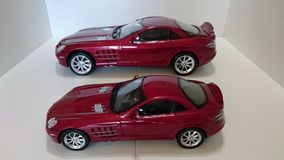 Mercedes Benz McLaren SLR model cars Stock Photography