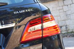 Mercedes-Benz ML-Class BlueTec 2014 back light Royalty Free Stock Images