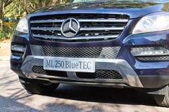 Mercedes-Benz ML-Class BlueTec 2014 bumper Stock Photo