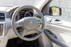 Mercedes-Benz ML-Class BlueTec 2014 driver bay Royalty Free Stock Photography