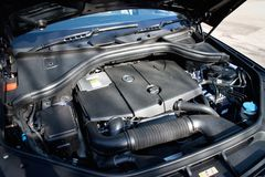 Mercedes-Benz ML-Class BlueTec engine Royalty Free Stock Photo
