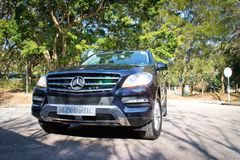 Mercedes-Benz ML-Class BlueTec 2014 front view Stock Image