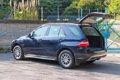 Mercedes-Benz ML-grupp BlueTec öppen bakdörr Royaltyfria Foton