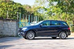 Mercedes-Benz ML-grupp BlueTec 2014 modell Arkivbilder