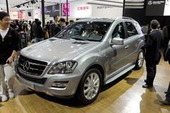 Mercedes-Benz ML350. Sport car in its exhibition hall,in 2010 international Auto-show GuangZhou. it is from 20/12/2010 to 27/12/2010. photo taken on 25 Dec Stock Photo