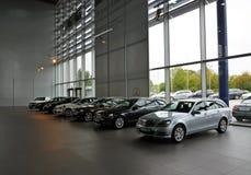 Mercedes-Benz museum i Stuttgart Royaltyfri Foto