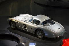 Mercedes Benz Museum. Stuttgart, Germany - May 25: Mercedes automobile inside the Mercedes-Benz Museum in Stuttgart, Germany, on May 25, 2014. The museum covers Royalty Free Stock Image