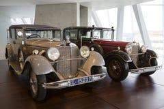Mercedes Benz Museum. Stuttgart, Germany - May 25: Mercedes automobile inside the Mercedes-Benz Museum in Stuttgart, Germany, on May 25, 2014. The museum covers Stock Photo