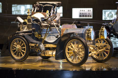 Mercedes Benz Museum. Stuttgart, Germany - May 25: Mercedes automobile inside the Mercedes-Benz Museum in Stuttgart, Germany, on May 25, 2014. The museum covers Stock Photography