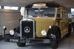 Mercedes Benz Museum. Stuttgart, Germany - May 25: Mercedes automobile inside the Mercedes-Benz Museum in Stuttgart, Germany, on May 25, 2014. The museum covers Stock Photos