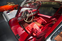 Mercedes Benz Museum. Stuttgart, Germany - May 25: Mercedes automobile inside the Mercedes-Benz Museum in Stuttgart, Germany, on May 25, 2014. The museum covers Stock Images