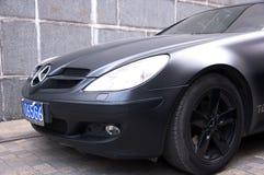 Mercedes Benz negra SL63 AMG Fotos de archivo libres de regalías