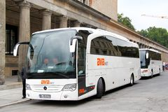 Mercedes-Benz O580-15RHD Travego Royalty Free Stock Image
