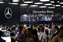 Mercedes benz  pavilion,17th Chengdu Motor Show Royalty Free Stock Photography