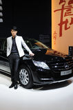 Mercedes benz r 350 l and model Royalty Free Stock Photography