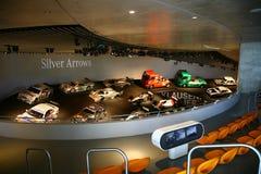 Mercedes-Benz raceauto's Stock Foto