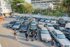 Mercedes Benz rally to Nakhon Ratchasima, Thailand 6 February 20 Stock Photos