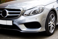 Mercedes benz restyle. Front view from a Mercedes Benz car Stock Images