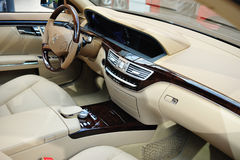 Mercedes Benz S 550 Interior Stock Photography