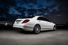 2015 Mercedes-Benz S63 AMG. 2015 Mercedes Benz S63 AMG with a twin turbo V8 Stock Images