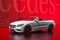 Mercedes Benz S63 Cabriolet at the IAA 2015 Royalty Free Stock Photo