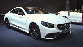Mercedes-Benz S-Class Coupe luxury car stock video footage