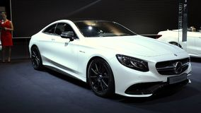 Mercedes-Benz S-Class Coupe luxury car stock video