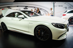 Mercedes-Benz S-Class Coupe , Motor Show Geneve 2015. Royalty Free Stock Images