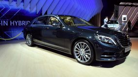 Mercedes-Benz S-Class plug-in hybrid stock video