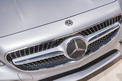 Mercedes-Benz S560 Coupé 4Matic på skärm under auto show för LA royaltyfri fotografi