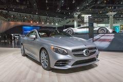 Mercedes-Benz S560 Coupé 4Matic sur l'affichage pendant le salon de l'Auto de LA photo libre de droits
