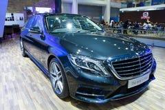 Mercedes Benz S-grupp bil på expo för Thailand Internationalmotor Royaltyfria Foton