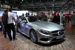 Mercedes Benz S-grupp på den auto mobila internationalen Royaltyfria Bilder