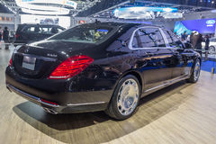 Mercedes Benz S500 Maybach toonde in Thailand 37ste Bangkok I Stock Foto's