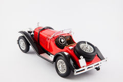 Mercedes Benz 1900s red classic car isolated in white background Royalty Free Stock Photo