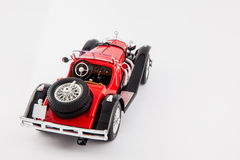 Mercedes Benz 1900s red classic car isolated in white background Stock Image