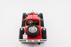 Mercedes Benz 1900s red classic car isolated in white background Royalty Free Stock Images
