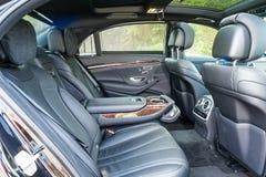 Mercedes-Benz S 320 2017 wnętrzy obrazy stock
