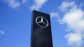 Mercedes Benz sign royalty free stock images